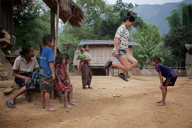 Play with children in Ban Xanghai Indochina Vacations