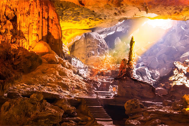 Sung Sot Cave Halong Vietnam Cambodia Vacation
