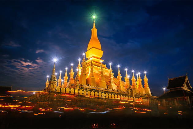 That Luang Stupa - Indochina Holiday Packages 26 Days