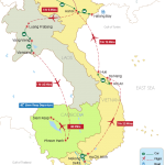 Treasure of Indochina 26 Days Map