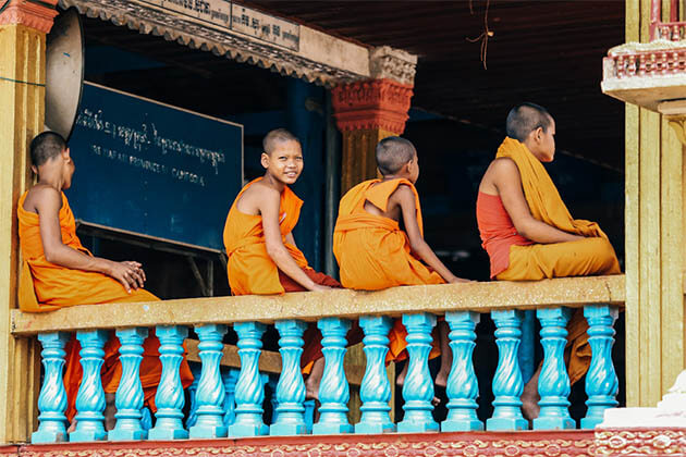 Young monks at Wat Hanchey Cambodia
