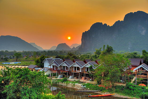 sunrise in vang vieng things to see in laos indocchina tours