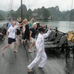 tai chi lesson in halong bay