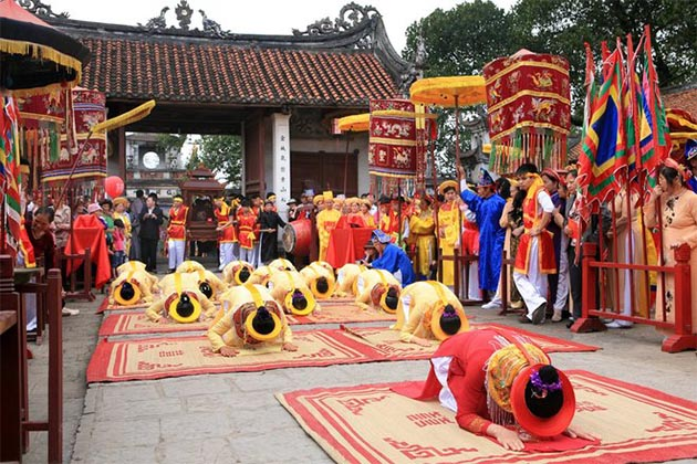 The ceremonial rites in Co Loa Citadel Festival reflect the spiritual culture in Vietnam