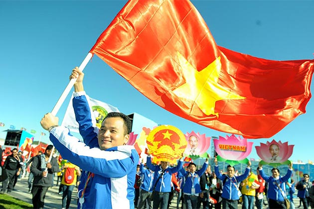 The ceremony of International Labor Day - a Vietnamese Public Holiday