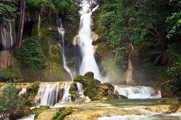 kuang si waterfall is ideal destination in southeast asia vacation