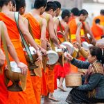 the daily alms ritual in vietnam cambodia laos thailand tour