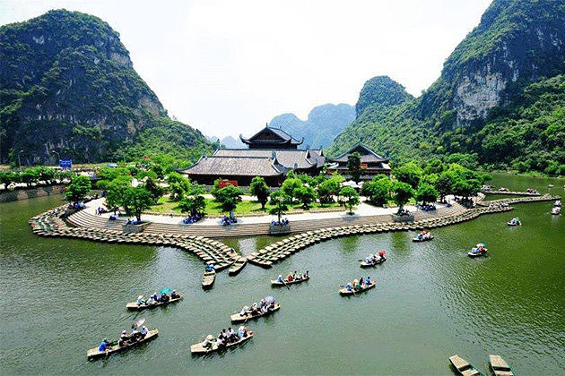 the halong bay on land in a tour to northern vietnam