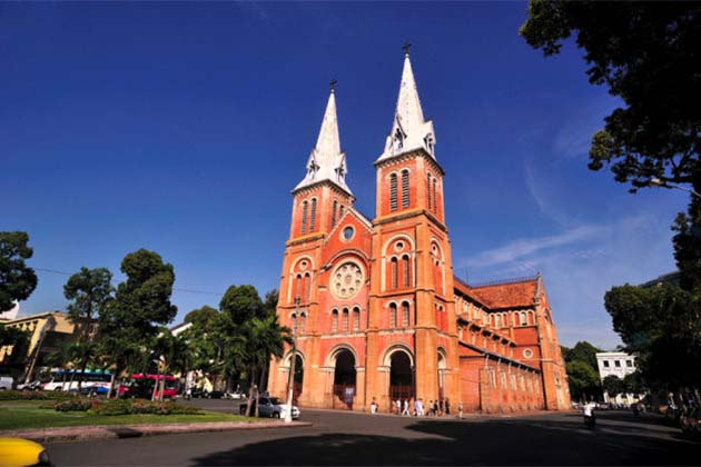 your southeast asia vacation continues to Notre Dame Cathedral in Ho Chi Minh City
