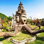 Buddha Park visiting from Indochina Tours