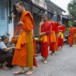 Daily Alms Giving Ceremony - 11 Days in Vietnam and Laos