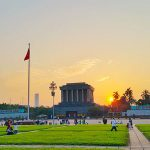 Ho Chi Minh Mausoleum Sunset - Vietnam Laos Tours