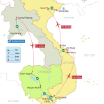 Indochina Odyssey 22 Days Map