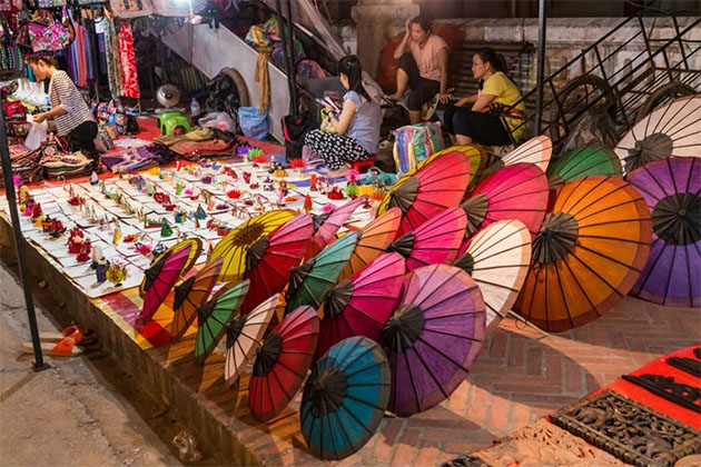 Luang Prabang Night Market 9 Days in Vietnam and Laos
