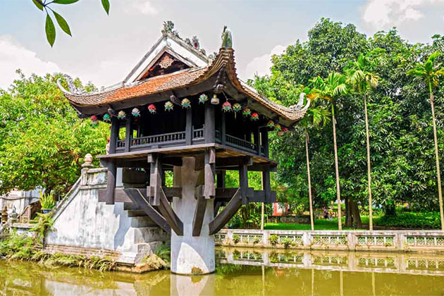 One Pillar Pagoda Hanoi Discover Vietnam Laos in 9 Days