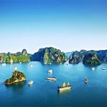 Panorama of Halong Bay - Vietnam Cambodia Tours