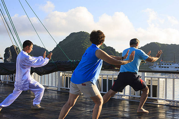 Tai Chi Exercise on Board - Southeast Asia