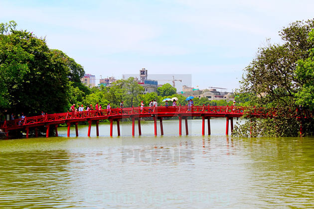 The Huc Bridge at Hoan Kiem Lake