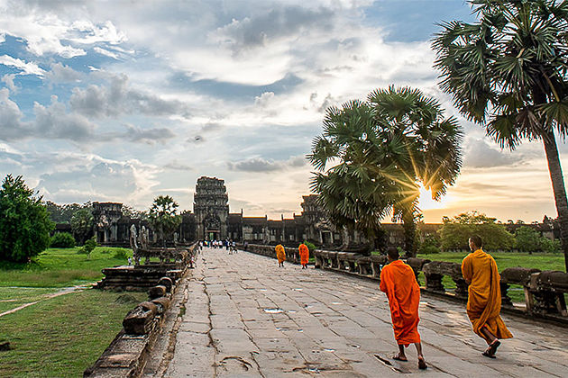 UNESCO Heritage of Angkor Wat in Sunset