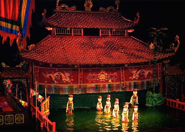 Water Puppet Show Hanoi - North Vietnam Laos Tour