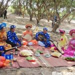 Artists perform traditional music folk song in fruit gadern mekong Delta
