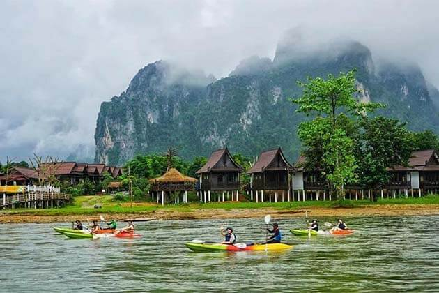 Boat Trip on Nam Song River Vang Vieng
