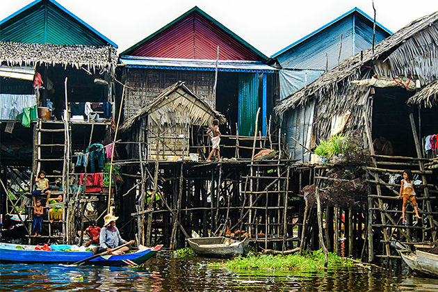 Experience village life in Kampong Phluk Cambodia