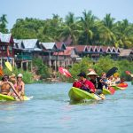 Kayaking along Nam Song River - Laos Cambodia Tour 15 Days