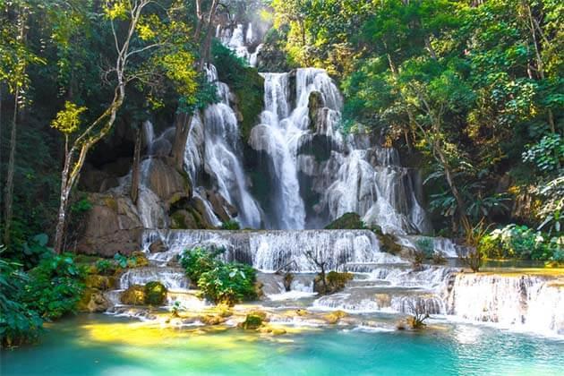 Kuang Si Waterfalls Laos Vietnam Vacation Package 20 Days