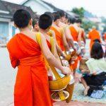 Luang Prabang Daily Alms Giving Ritual - Laos Vietnam Trip
