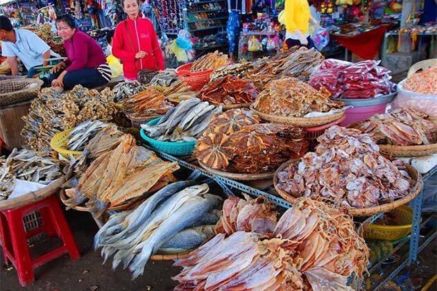 Nha Trang Dam Market Vietnam Laos Tour