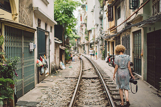 Train Street Hanoi Vietnam Cambodia Vacation Package