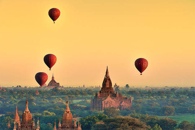 bagan hot air balloon 4 week ititnerary in indochina