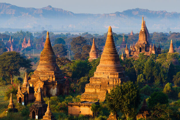 stunning view bagan myanmar in Multi-country southeast asia vacations