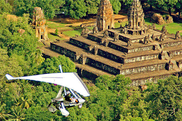 see cambododia from above by microlight flight cambodia laos vacations