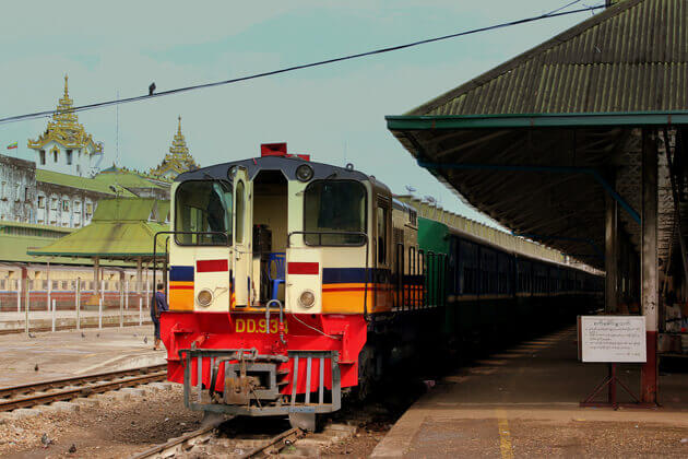 train in myanmar from Multi country southeast asia tour