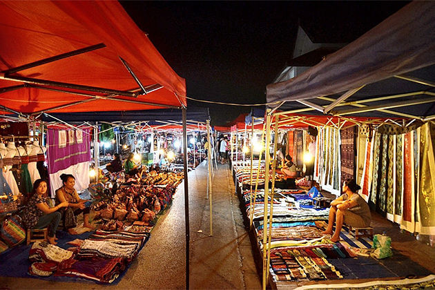 wander luan prabang night market cambodia laos vacation packages