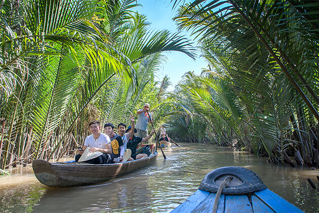 Boat Trip through Small Canals in Cai Be