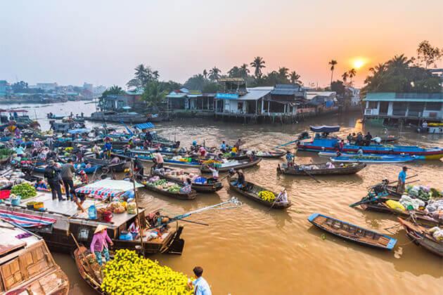 Cai Rang Floating Market Can Tho