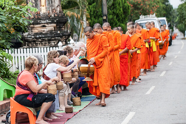 Daily Alms Giving Ceremony Luang Prabang