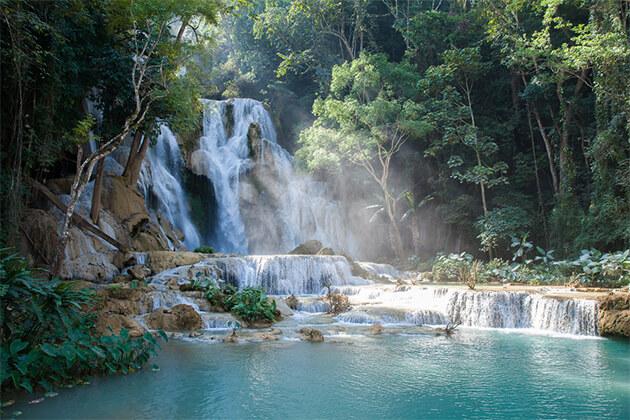 Kuang Si Falls - Vietnam Cambodia Laos Tour 23 Days