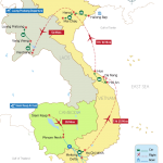 Like a Local in Cambodia, Vietnam Laos 23 Days Map
