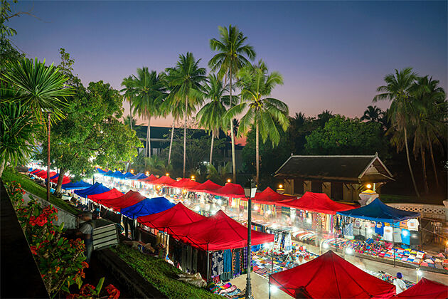 Luang Prabang Night Market - Trip in Indochina 23 Days