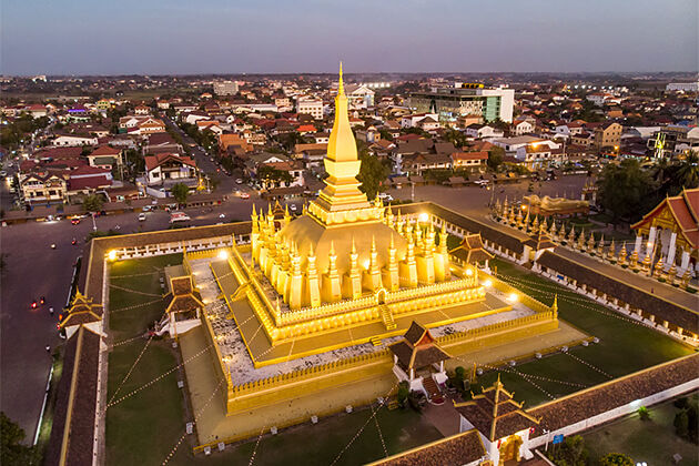 That Luang Stupa Vientiane Indochina Travel