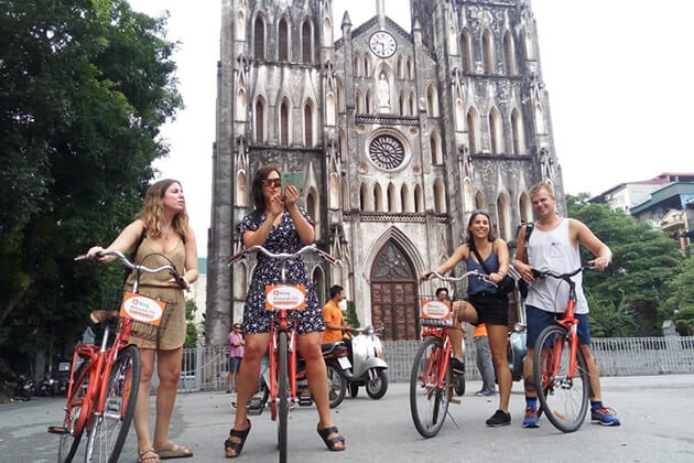 Cycling around Hanoi in Vietnam & Cambodia tour