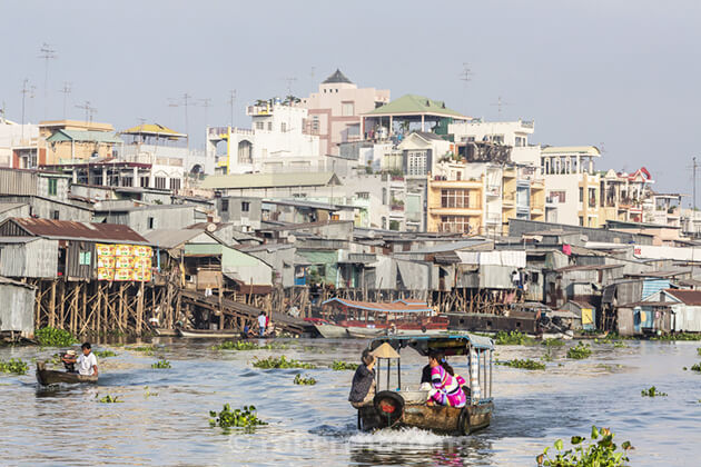 Speed boat to Chau Doc with Indochina tours