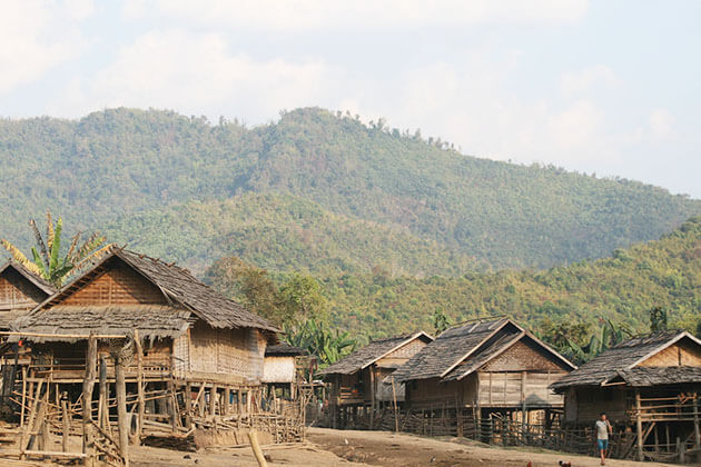 Tranquil atmosphere of Laotian Village