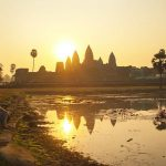 enjoy sunrise at Angkor Wat from Cambodia & Laos tours
