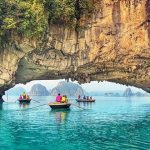 Boating around Bai Tu Long Bay in Indochina tours