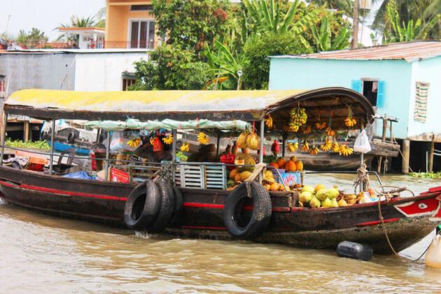 Diverse goods in Mekong Delta